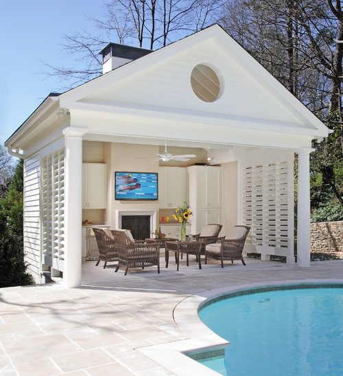 The Cape Cod Ranch Renovation Open Cabana Instead Of