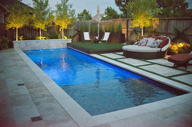Outdoor space katy tx modern pool houston by for Pool design katy