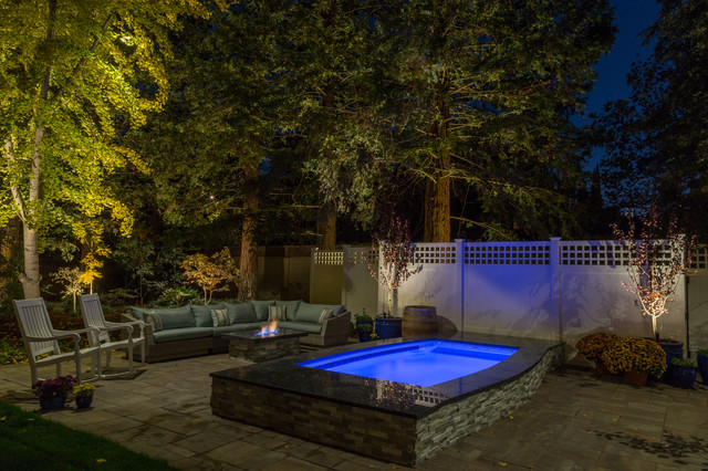 Outdoor Swim Spa Room Design - Traditional - Pool ...