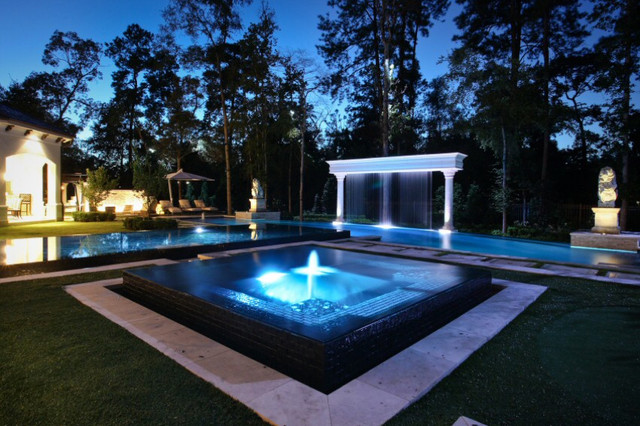 Outdoor Theater Tropical Swimming Pool Hot Tub Other By Your Tech Of Naples