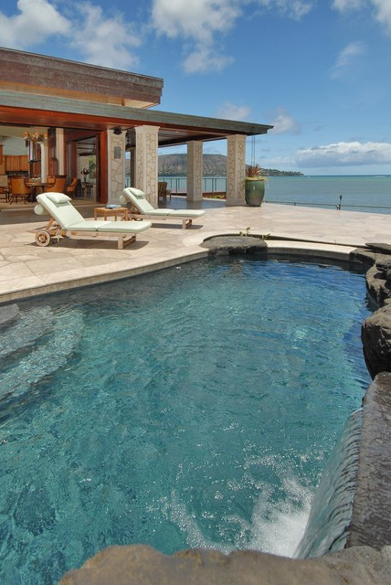 Paiko lagoon oasis tropical pool hawaii by for Archipelago hawaii luxury home designs