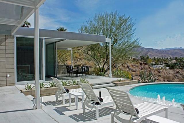 Palm Springs Home By Hector Romero Interior Design Houston Texas Midcentury Exterior