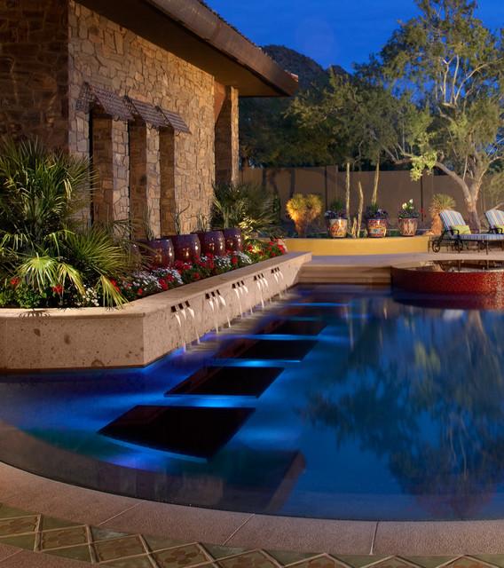 Phoenix Pool Remodel Ideas Painting Palomino  Southwestern  Pool  Phoenix Bianchi Design
