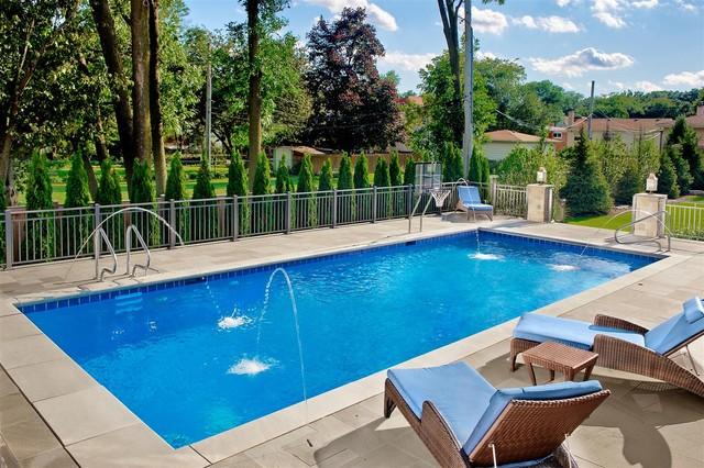 Park Ridge Il Inground Swimming Pool Traditional Pool