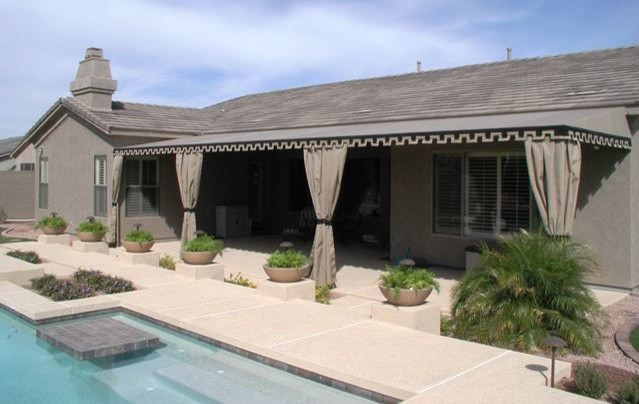 Patio Awnings U0026 Outdoor Drapes Traditional Pool