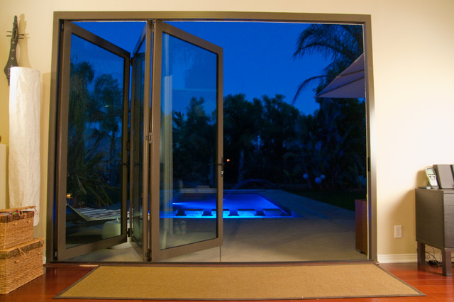 Patio Folding Doors Anaheim Hills Ca Tropical Pool