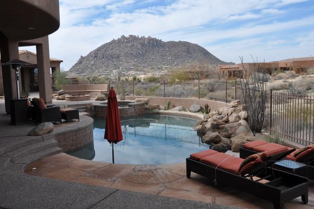 Patio, Pool & Hot Tub traditional-pool