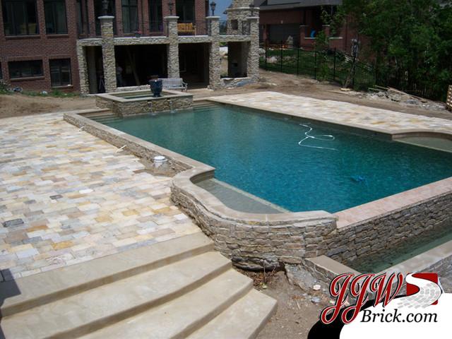 Paver Patio Designs traditional-pool