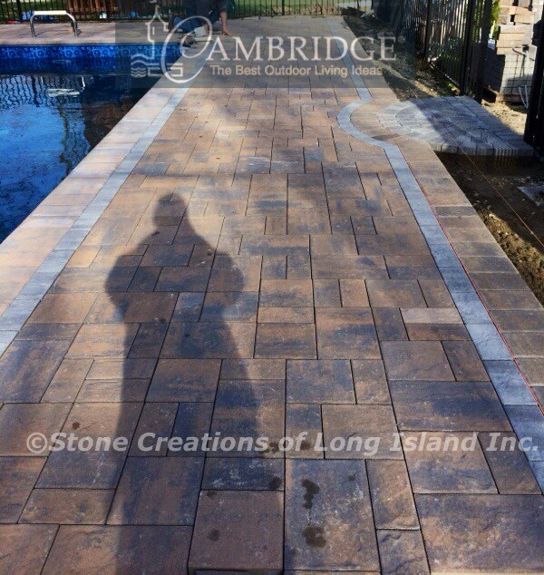 Paver Pool Patio, Cambridge Pavers, Dix Hills, N Y 11746