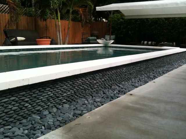 Pebble Installations Modern Pool Miami By Miami