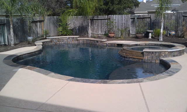 Pebble Sheen Contemporary Pool Houston By Ocean