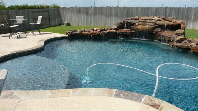 Pebble Tec Beach Style Pool Houston By Ocean Blue