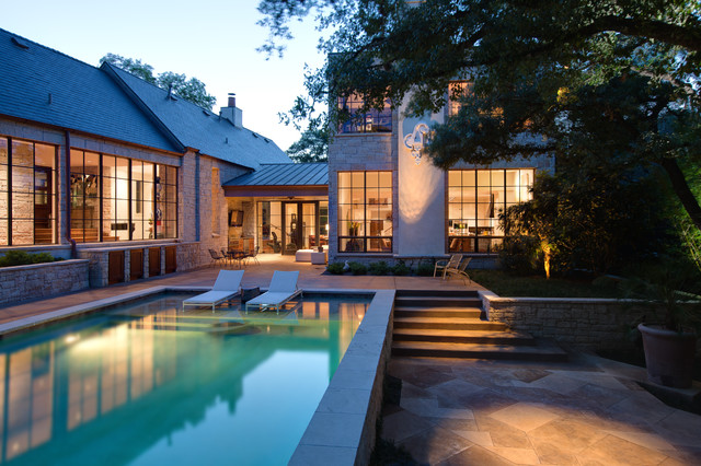traditional pool by Hugh Jefferson Randolph Architects