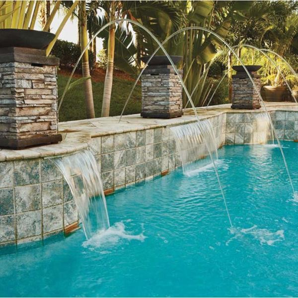 Pentair MagicStream Laminar lED Tan Lid Water Feature - Tropical - Pool - by PoolSupplyWorld.com