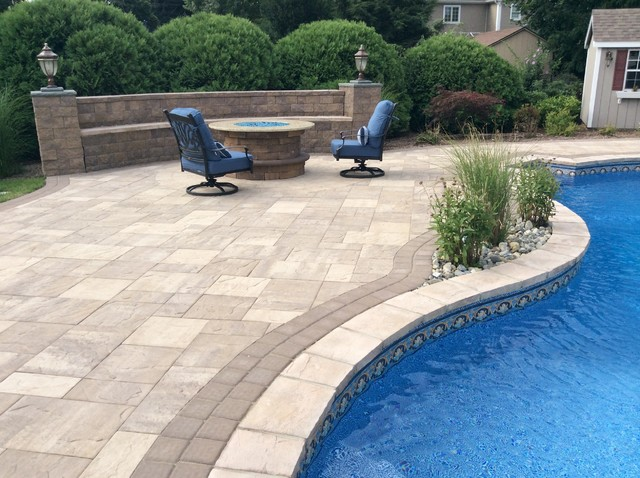 Pequannock, NJ Pool Patio - Traditional - Pool - Newark - by