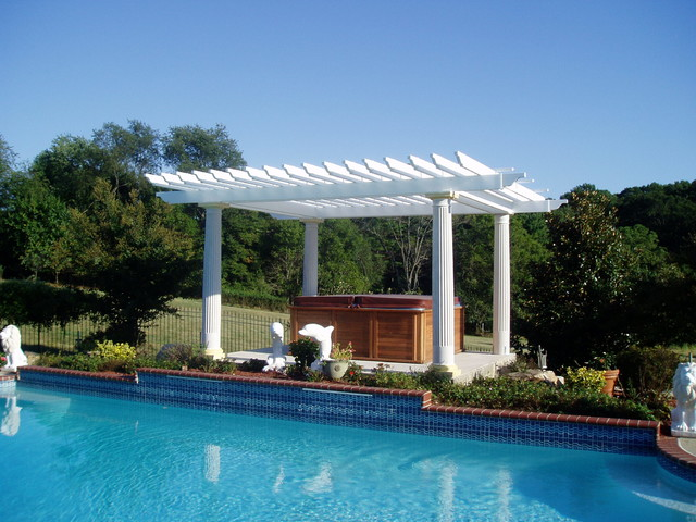 Pergola gazebo traditional pool baltimore by for Pool design with gazebo