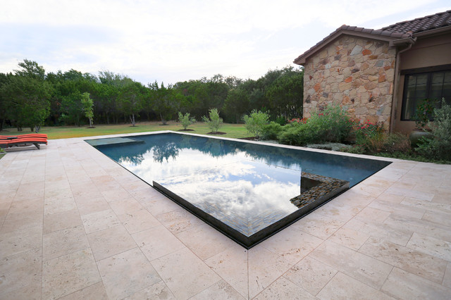 Perimeter Overflow Pool - Mediterranean - Swimming Pool & Hot Tub ...