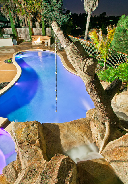 Personal waterparks tropical-pool