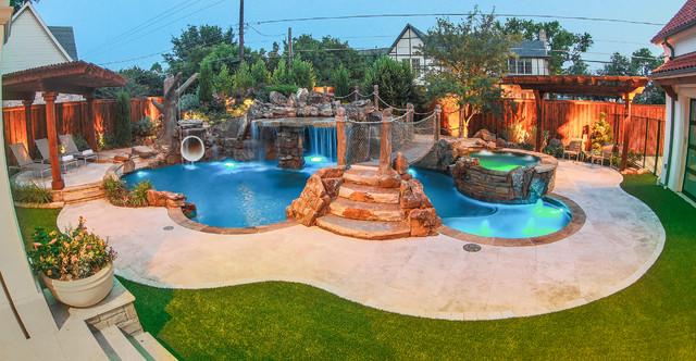 Pirates Themed Backyard Tropical Pool Dallas By
