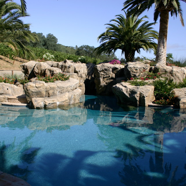 Pleasanton Ca Artificial Rock Waterfall Pool Side Tropical Pool San Francisco By