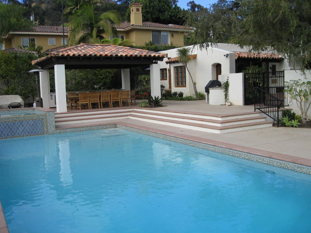 Point Loma Historic Residence Renovation mediterranean-pool
