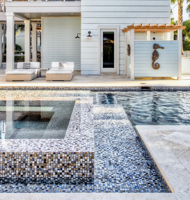 Ponte vedra residence beach style pool jacksonville for Interior decorators ponte vedra beach