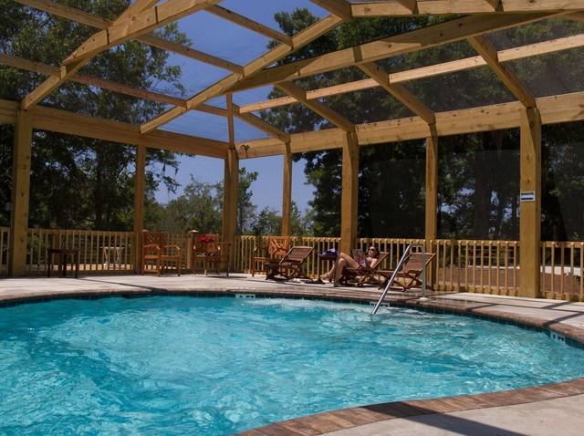 Pool Amp Custom Timber Enclosure Beach Style Pool