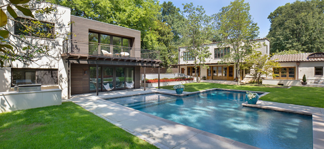 Pool And Guest House Chickasaw Gardens Memphis Contemporary Pool Nashville By John