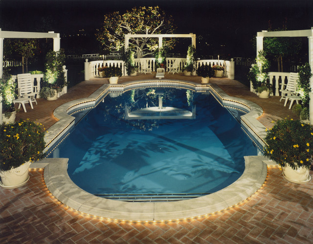 Pool and landscape lighting traditional-pool