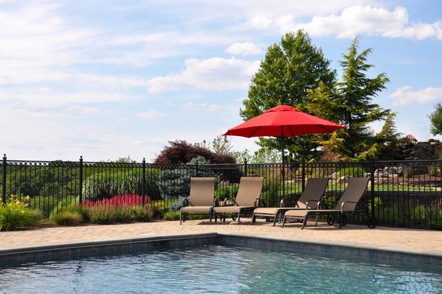 Pool and paver pool deck traditional-pool