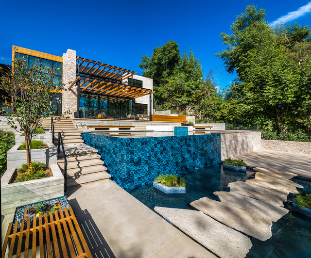 Pool and pond contemporary pool los angeles by cac for Design of maturation pond
