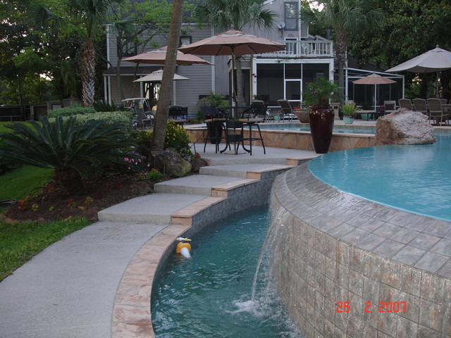 Pool And Spa Combos Tropical Houston By Richard 39 S