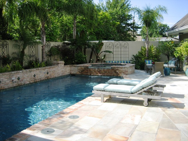Pool and spa eclectic pool new orleans by ferris for Pool design new orleans