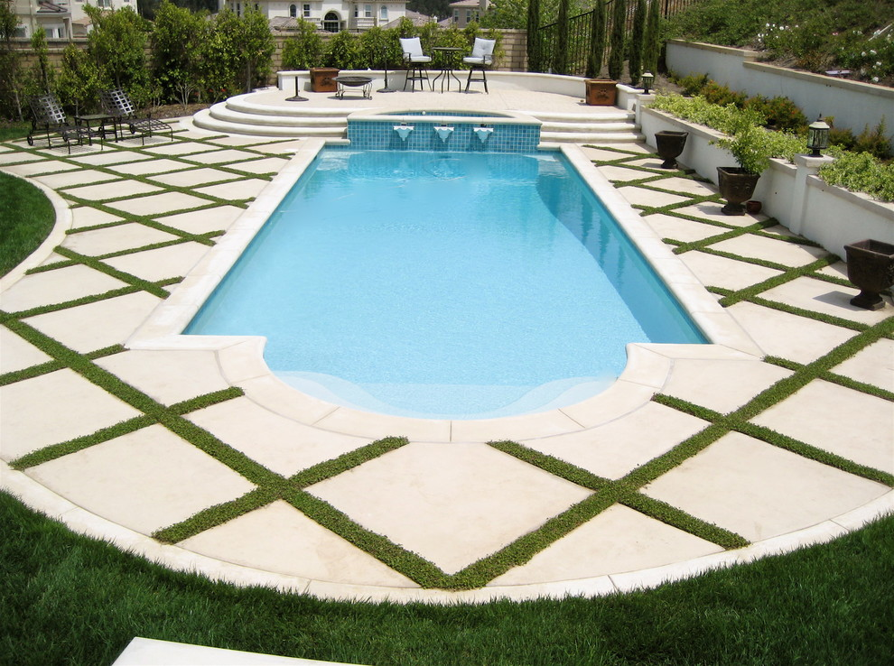 Pool Spa Traditional Pool Los Angeles By Gilson Group Landscape Design