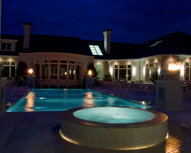Pool And Spa In Inverness Contemporary Pool Chicago By Downes Swimming Pool Company