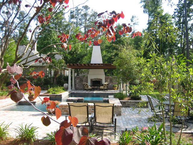 Pool and spa overlooking golf course modern pool new for Pool design new orleans