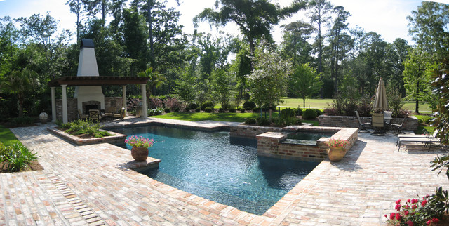 pool and spa overlooking golf course modern pool new
