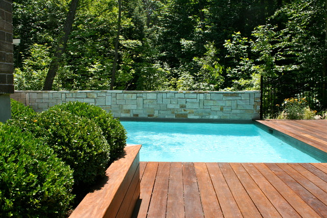 Pool And Wood Deck Modern Pool Montreal By Topia