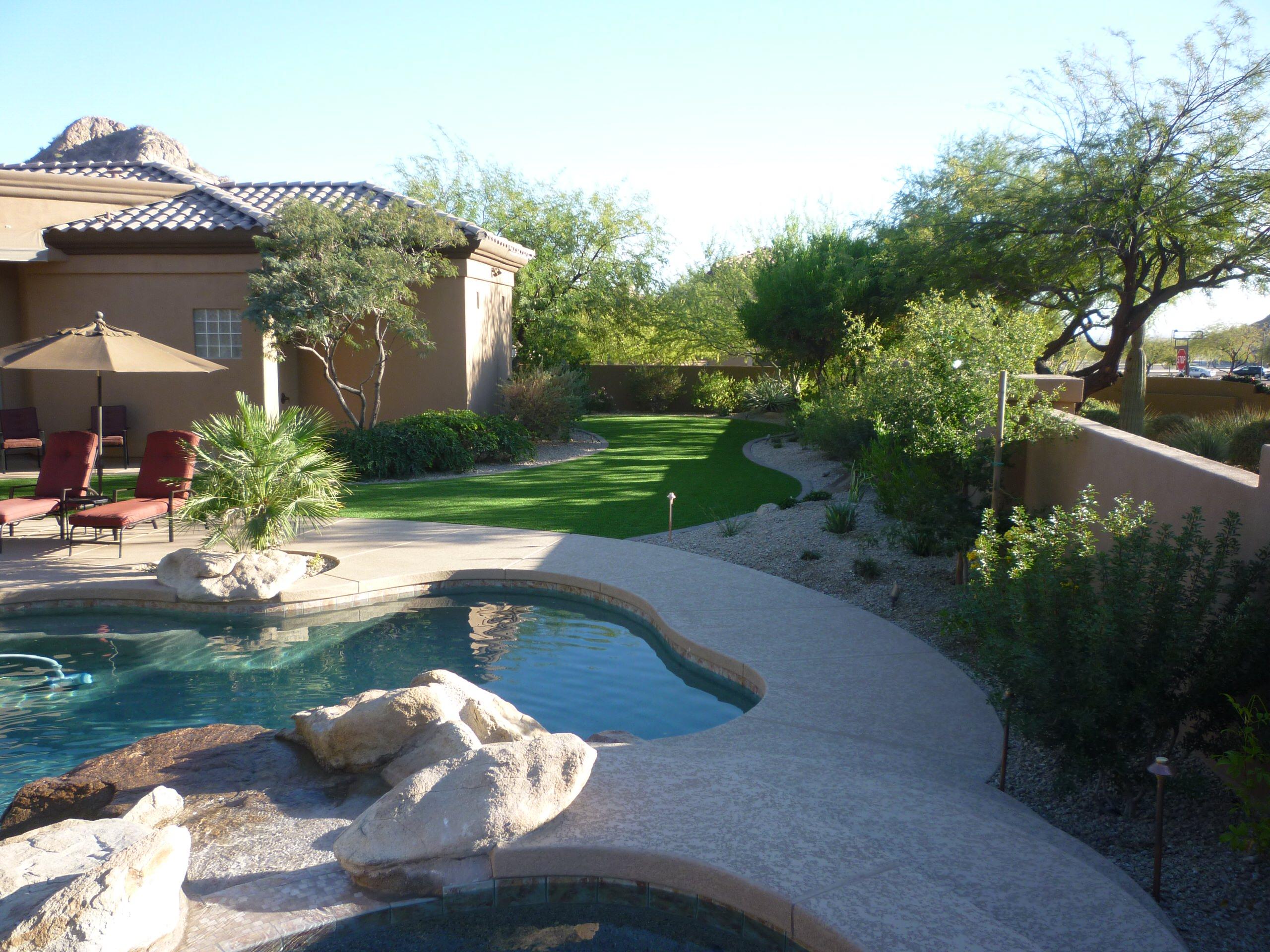 Pool Area w/ Artificial Turf