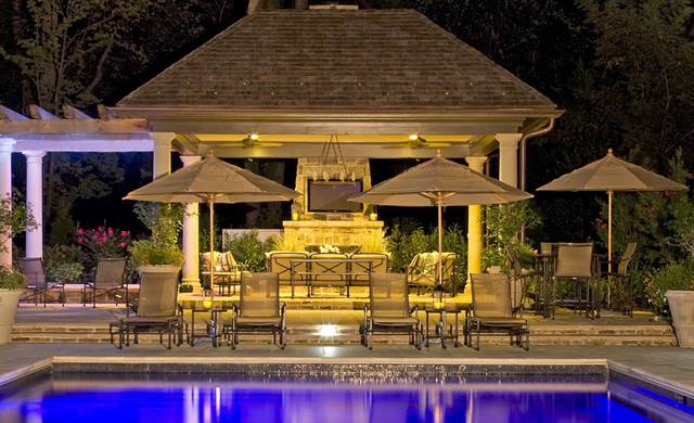 Pool at Night contemporary-pool