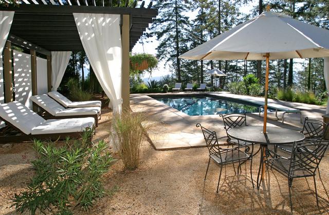 Pool cabana mediterranean pool san francisco by for Outdoor cabana decorating ideas
