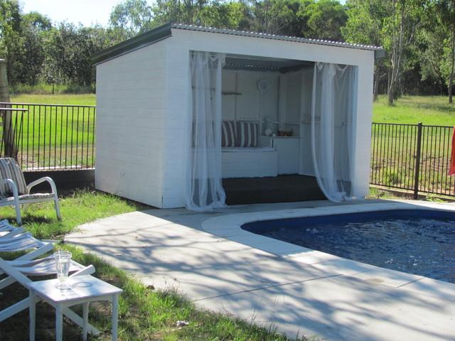 Pool cabana for Pool house shed ideas