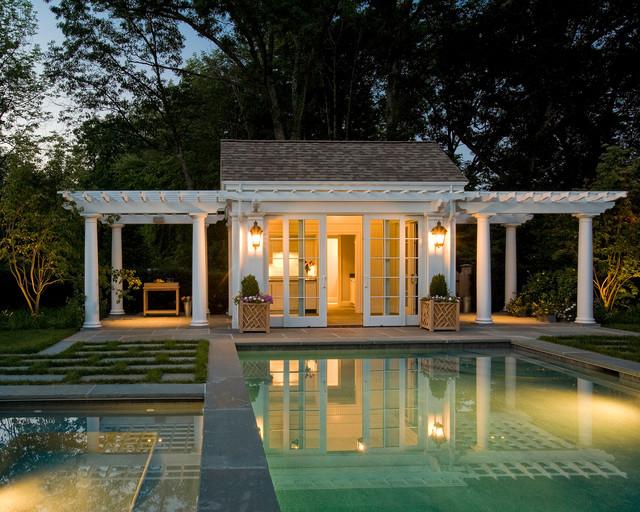 Pool Cabana American Traditional Swimming Pool