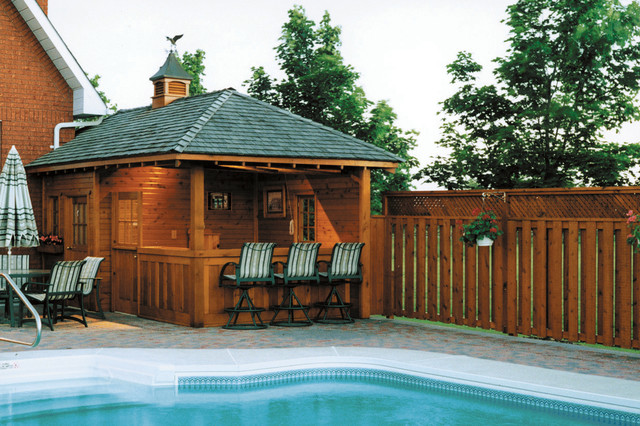 Pool cabanas Pool house plans with bar