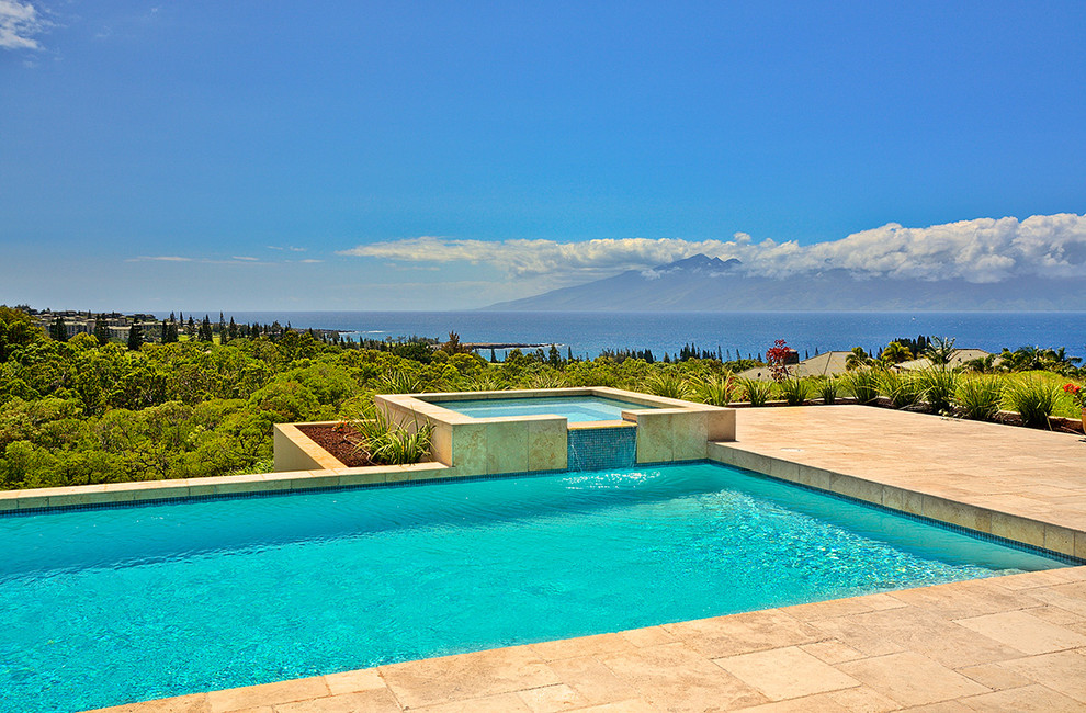 Inspiration for a tropical rectangular pool remodel in Hawaii