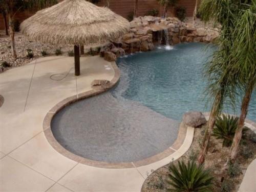 Pool Deck Lastiseal Concrete Stain Sealer Tropical