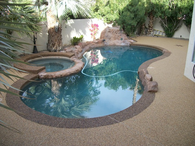 Pool Deck Tropical Pool Las Vegas By Pebble Stone