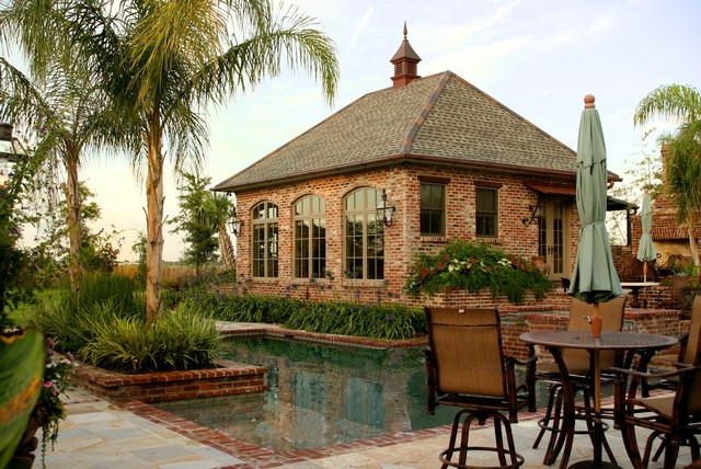 Pool traditional pool new orleans by ferris land for Pool design new orleans