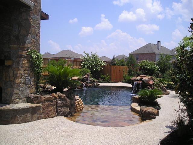 Pool Garden mediterranean-landscape