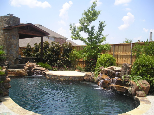 Pool Garden Mediterranean Pool Dallas By Finelines Design Studio